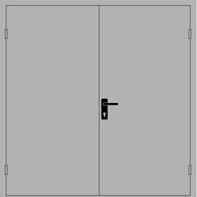 противопожарная дверь двупольная дпм 0230 Ei 30 Ei 60