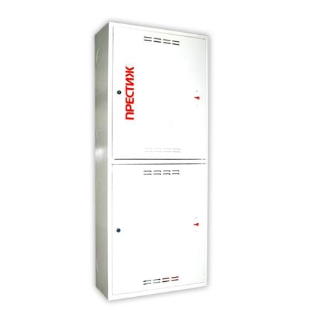 Пожарный шкаф ПРЕСТИЖ-03 (320 НЗБ) навесной, закрытый, белый.