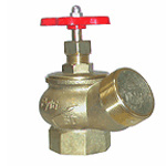 Вентиль пожарного крана угловой латунный КПЛ-50