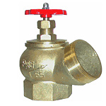Клапан пожарного крана угловой латунный КПЛ-65