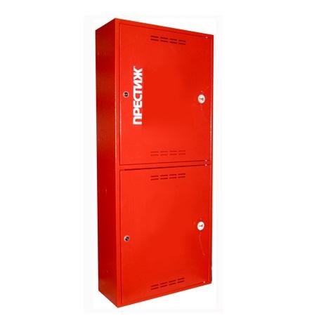 Пожарный шкаф ПРЕСТИЖ-03-НЗК-2ПК (ШПК-320-21 НЗК) навесной, закрытый, красный.